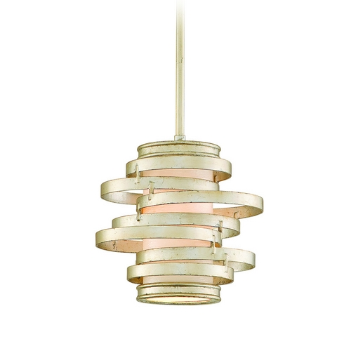 Corbett Lighting Modern Mini-Pendant Light with Beige / Cream Glass 128-41-F