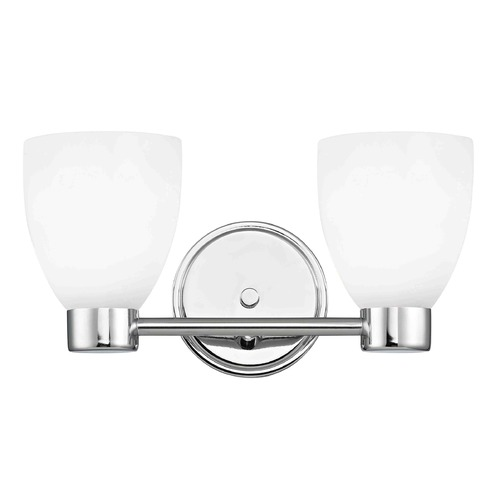 Design Classics Lighting Design Classics Aon Fuse Chrome Bathroom Light 1802-26 GL1028MB