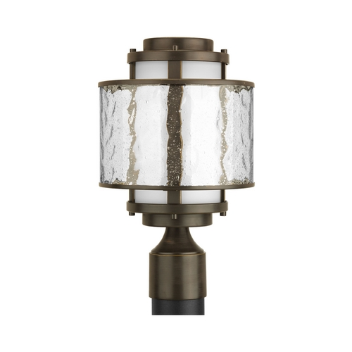 Progress Lighting Progress Modern Post Light with Clear Glass in Antique Bronze Finish P5499-20