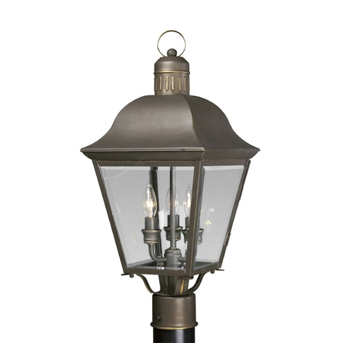 Progress Lighting Progress Post Light with Clear Glass in Antique Bronze Finish P5487-20