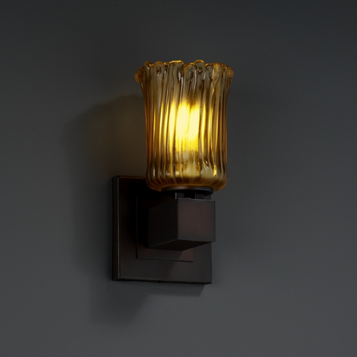 Justice Design Group Justice Design Group Veneto Luce Collection Sconce GLA-8705-16-AMBR-DBRZ