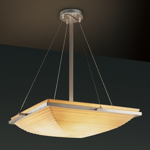 Justice Design Group Justice Design Group Porcelina Collection Pendant Light PNA-9791-25-SAWT-NCKL
