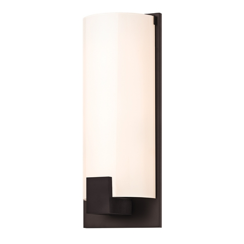 Sonneman Lighting Modern Sconce Wall Light with White Glass in New Bronze Finish 3662.26