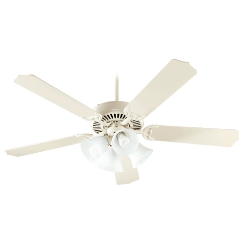 Quorum Lighting Quorum Lighting Capri V Antique White Ceiling Fan with Light 77525-8167