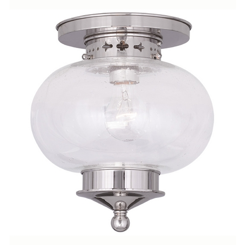 Livex Lighting Livex Lighting Harbor Polished Nickel Close To Ceiling Light 5036-35
