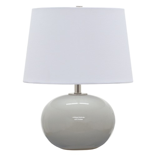House of Troy Lighting House of Troy Scatchard Gray Gloss Table Lamp with Empire Shade GS600-GG