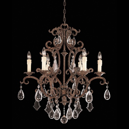Savoy House Savoy House New Tortoise Shell Crystal Chandelier 1-1402-6-56