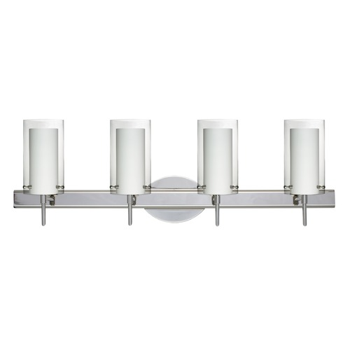 Besa Lighting Besa Lighting Pahu Chrome LED Bathroom Light 4SW-C44007-LED-CR