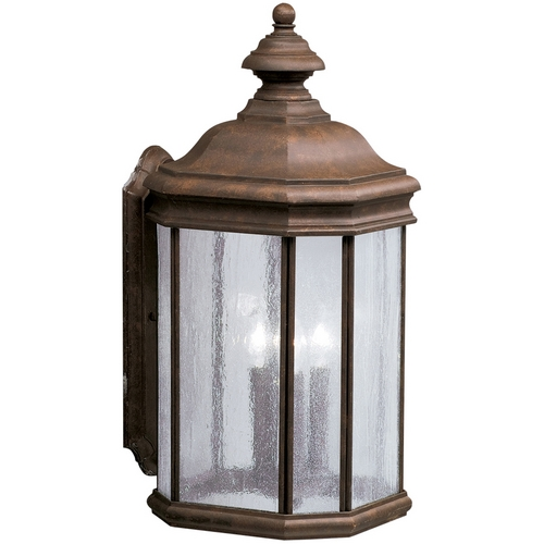 Kichler Lighting Kichler Outdoor Wall Light with Clear Glass in Tannery Bronze Finish 9030TZ