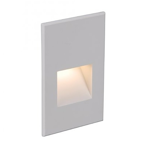 WAC Lighting Wac Lighting Ledme Step and Wall Lights White on Aluminum LED Recessed Step Light WL-LED201-AM-WT