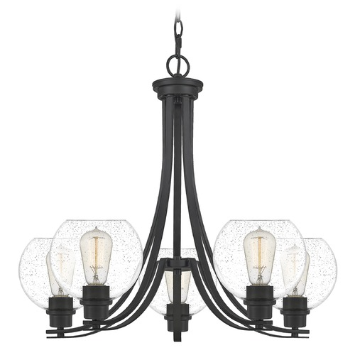 Quoizel Lighting Quoizel Lighting Pruitt Matte Black Chandelier PRUS5026MBK