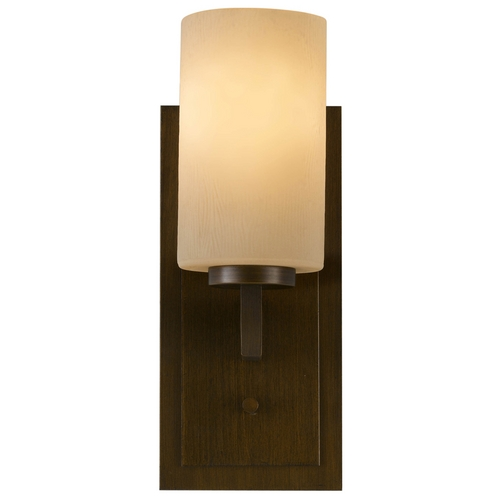 Feiss Lighting Modern Sconce Wall Light with Amber Glass in Heritage Bronze Finish VS15901-HTBZ