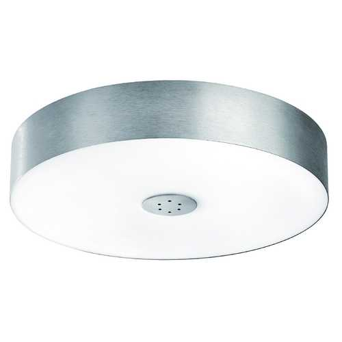 Philips Lighting Modern Flushmount Light with Clear Glass in Matte Chrome Finish 403404848
