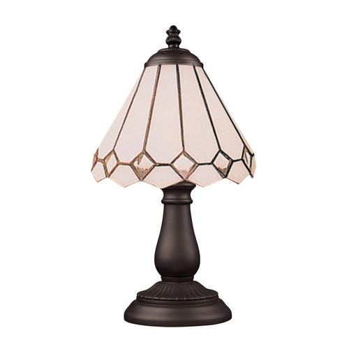 Elk Lighting Table Lamp with Tiffany Glass in Bronze Finish 080-TB-04