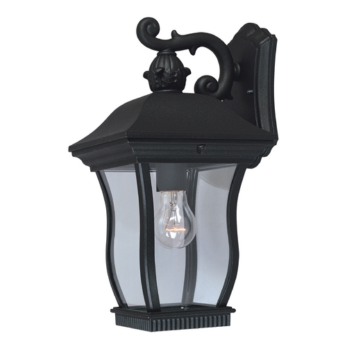 Designers Fountain Lighting Outdoor Wall Light with Clear Glass in Black Finish 2701-BK