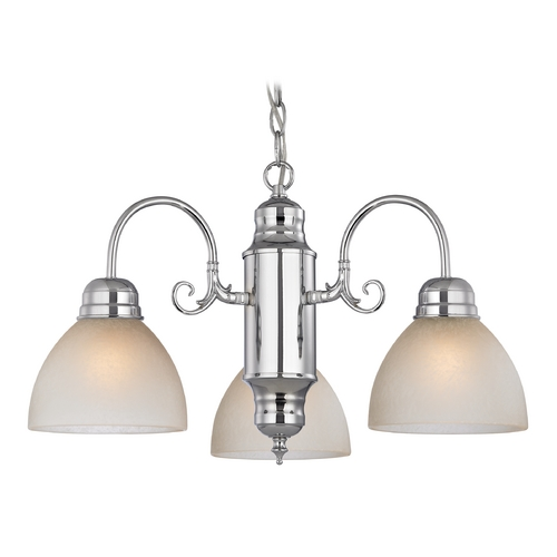 Design Classics Lighting Mini-Chandelier with Caramel Glass in Chrome Finish 708-26 GL1033-CAR