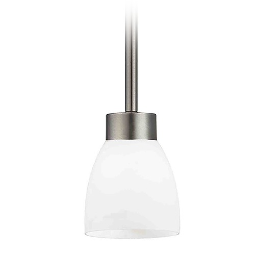 Design Classics Lighting Modern Mini-Pendant Light with White Glass 1123-1-09 GL1024MB