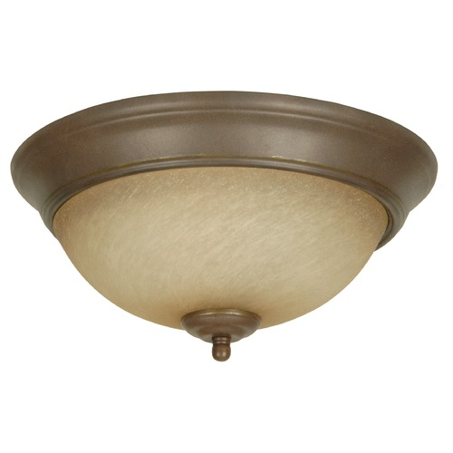Jeremiah Lighting Jeremiah Aged Bronze Textured Flushmount Light X713-AG