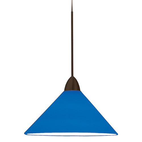 WAC Lighting Wac Lighting Contemporary Collection Dark Bronze LED Mini-Pendant with Conical Shad MP-LED512-BL/DB