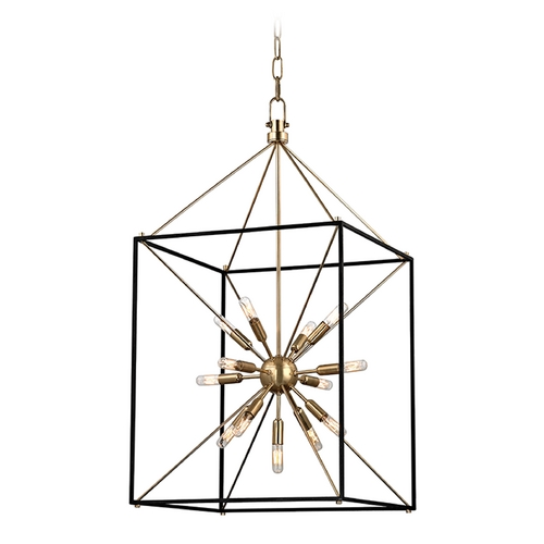 Hudson Valley Lighting Hudson Valley Lighting Glendale Aged Brass Pendant Light 8920-AGB