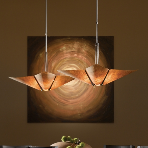 Hubbardton Forge Lighting Hubbardton Forge Lighting Kirigami Dark Smoke Pendant Light 133305-07-794
