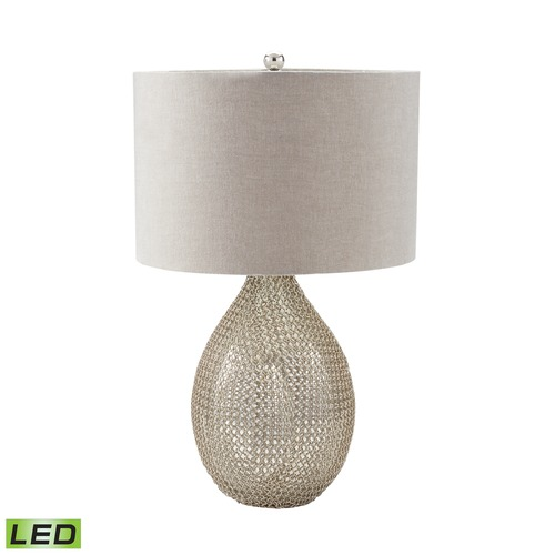 Dimond Lighting Dimond Lighting Silver LED Table Lamp with Drum Shade 983-007-LED