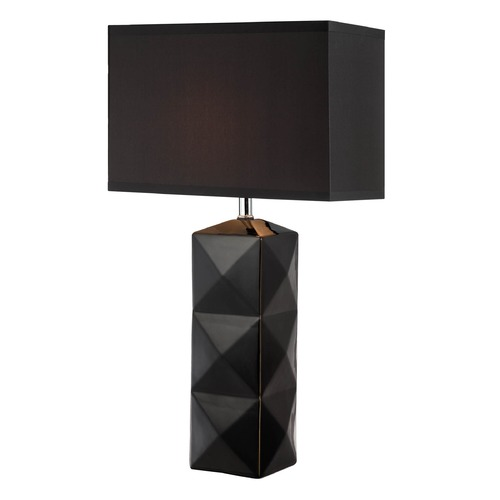 Lite Source Lighting Lite Source Robena Black Table Lamp with Rectangle Shade LS-22239BLK