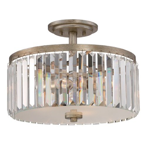 Quoizel Lighting Quoizel Mirage Vintage Gold Semi-Flushmount Light MIR1715VG