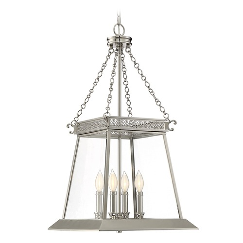Savoy House Savoy House Lighting Norwich Polished Nickel Pendant Light with Square Shade 3-941-4-109