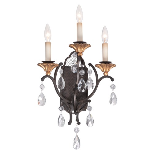 Metropolitan Lighting Metropolitan Cortona French Bronze W/ Gold Highligh Sconce N7103-258B