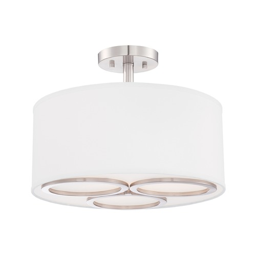 Designers Fountain Lighting Designers Fountain Omega Satin Platinum Semi-Flushmount Light 86611-SP