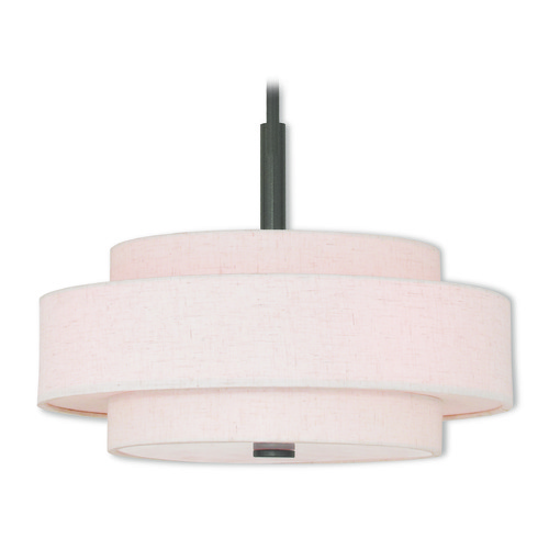 Livex Lighting Livex Lighting Meridian English Bronze Pendant Light with Drum Shade 52137-92