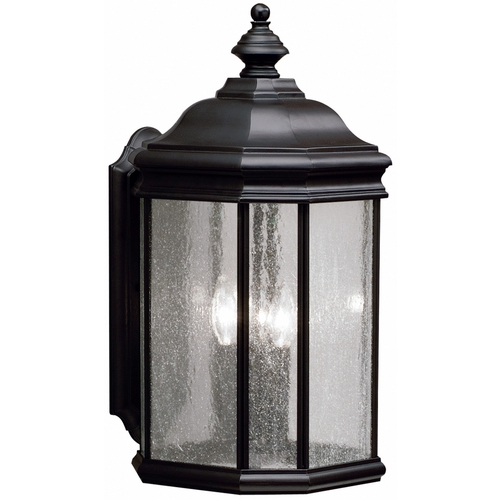 Kichler Lighting Kichler Outdoor Wall Light with Clear Glass in Black Finish 9030BK