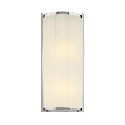 Sonneman Lighting Sconce Wall Light with White Glass in Polished Nickel Finish 4351.35