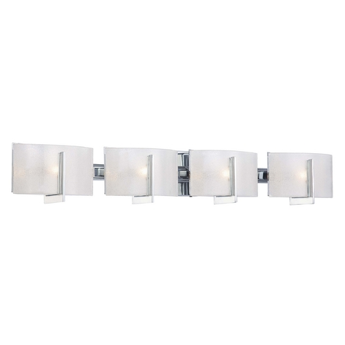 Minka Lavery Bathroom Light with White Glass in Chrome Finish 6394-77