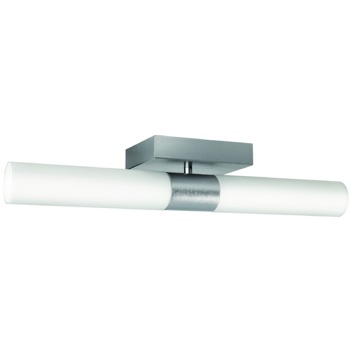 Philips Lighting Modern Flushmount Light with White Glass in Aluminum Finish 368014848
