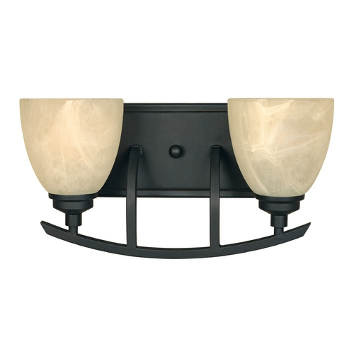Designers Fountain Lighting Bathroom Light with Alabaster Glass in Burnished Bronze Finish 82902-BNB
