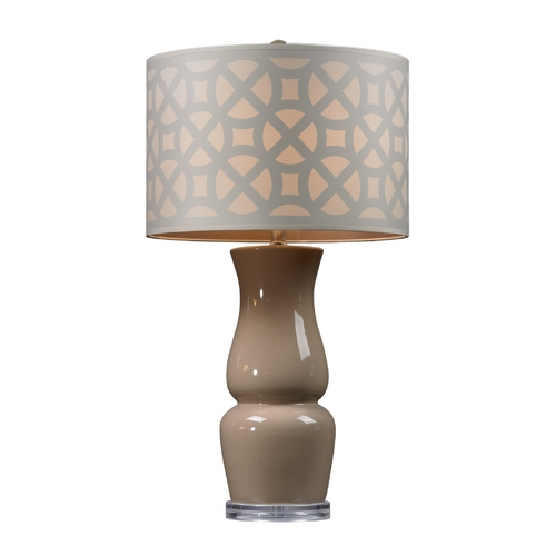 Dimond Lighting Table Lamp with Taupe Glass Base D158