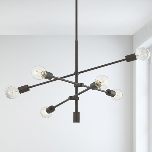 Design Classics Lighting Mid-Century Modern Pendant Cluster Light Bronze 1950-220