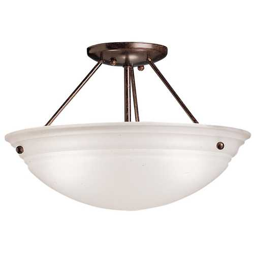Kichler Lighting Kichler Three-Light Semi-Flush Ceiling Light 3122TZ