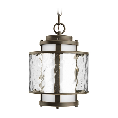 Progress Lighting Progress Outdoor Hanging Light with Clear Glass in Bronze Finish P5589-20