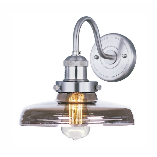 Maxim Lighting Maxim Lighting Mini Hi-Bay Satin Nickel Sconce 25087MSKSN/BUI