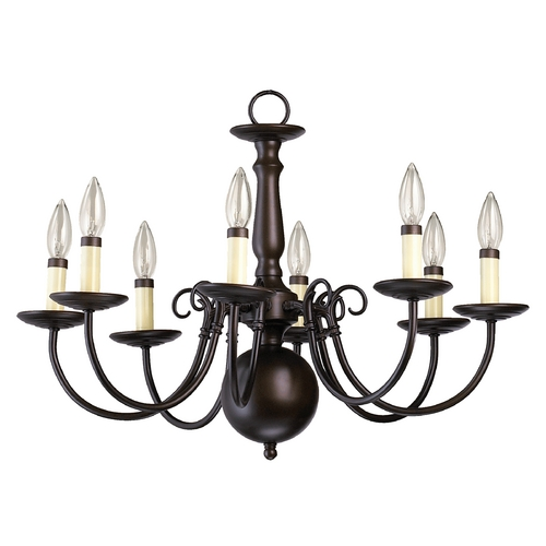 Quorum Lighting Quorum Lighting Oiled Bronze Chandelier 6007-8-86