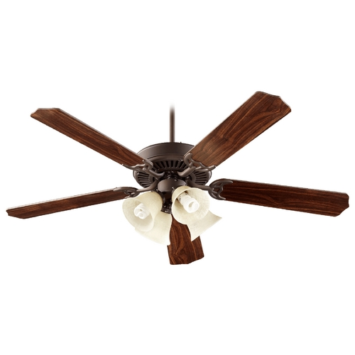 Quorum Lighting Quorum Lighting Capri V Oiled Bronze Ceiling Fan with Light 77525-8286