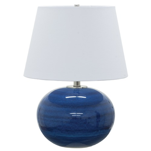 House of Troy Lighting House Of Troy Scatchard Blue Gloss Table Lamp with Empire Shade GS700-BG