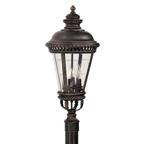 Feiss Lighting Post Light with Clear Glass in Grecian Bronze Finish OL1907GBZ