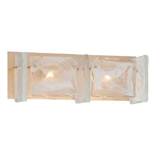 Metropolitan Lighting Metropolitan Arctic Frost Antique French Gold Bathroom Light N1782-595