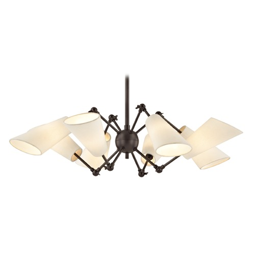 Hudson Valley Lighting Mid-Century Modern Bronze Chandelier 8-Lt Adjustable Arms by Hudson Valley 5308-OB