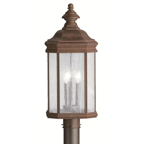 Kichler Lighting Kichler Post Light with White Glass in Tannery Bronze Finish 9918TZ