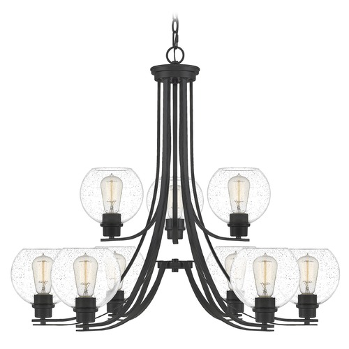 Quoizel Lighting Quoizel Lighting Pruitt Matte Black Chandelier PRUS5034MBK